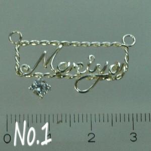 【まりや マリヤ Mariya 】 シルバー製Your Name Necklaceネームネックレス 名前ネックレス