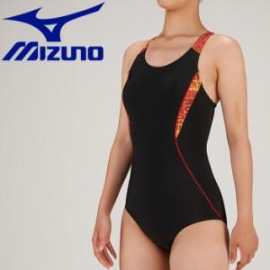 ミズノ 水泳 スイム アクアフィットネス用 ワンピース ピースバック 水着 レディース N2JA930196 返品不可