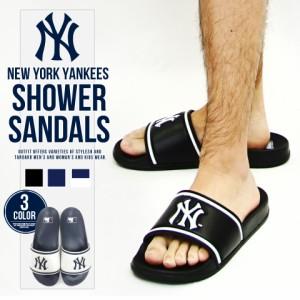 【BIGSALEクーポン対象店】サンダル メンズ おしゃれ シャワーサンダル ニューヨーク ヤンキース MLB スポーツサンダル 紳士 靴 シューズ