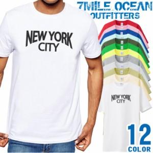 メンズ Tシャツ 半袖 プリント アメカジ 大きいサイズ 7MILE OCEAN ニューヨーク USA