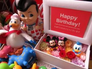 写真立て 結婚祝い ディズニー フォトフレーム 花 プレゼント プリザーブドフラワー入り ミッキー ミニー マスコット3個入り