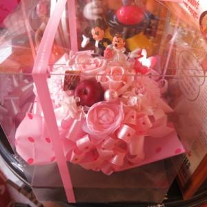◆結婚祝い ディズニー フラワーギフト 花 プチ プリザーブドフラワー ウェディング ミッキー ミニー ケース付き