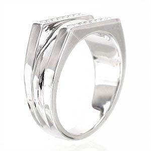 【送料無料】K18ゴールドリング 18金 レディース 0.16ct オリジナルリング 指輪 無垢 ピンキーリング 小指【コンビニ受取対応商品】  ホ