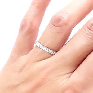 pt900 プラチナ900 ダイヤモンドリング エタニティリング ハーフエタニティリング 0.22ct 無垢 小指 ピンキーリング ファランジリング 指