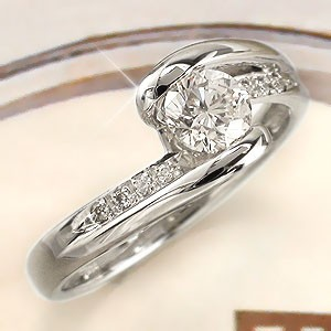 pt900 ダイヤモンドリング プラチナ900 0.50ct ブライダル エンゲージリング 一粒 指輪 レディース【送料無料】【コンビニ受取対応商品】