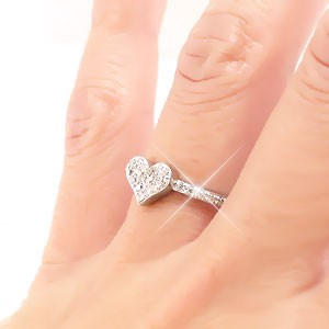 k18 ダイヤモンド リング 18金ゴールド ハート パヴェ ダイヤ 0.20ct 指輪 レディース【送料無料】【コンビニ受取対応商品】  ホワイトデ