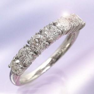 【送料無料】ダイヤリングダイヤモンド1.00ct 7石 リング 指輪K18ゴールド 18金 レディース【コンビニ受取対応商品】  ホワイトデー プ