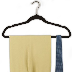 ズレ落ち防止 ハンガー ハンガー 洗濯用品 収納 ブラック 10本組 すべり落ちにくいハンガー 黒 スリムハンガー 10本セット