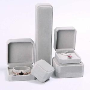 ギフトベルベットケース(グレー)1個販売 ギフトケース ラッピング用品 指輪 ピアス ネックレス ペンダント ピアス ブレスレット チョーカ