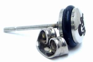 ナイトメア ステンレスピアス 1個販売 片耳 シングルピアス 20G 20ゲージ サージカルステンレス316L キャッチピアス スタッドピアス メン