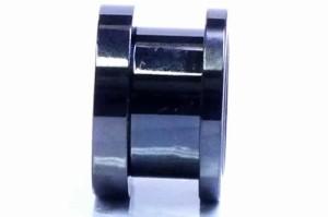 [ 14mm 黒い星 ボディピアス] ナイトスカイトンネル 14ミリ 14.0mm 黒色 ブラック スター ボディーピアス サージカルステンレス316L メン