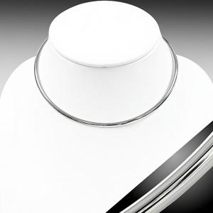 [ サージカルステンレス 幅4.5mm チョーカータイプ ] ステンレス チョーカー シルバーカラー ネックレス チェーン メンズ レディース 高