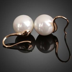 【10mmパール】真珠ピアス エリーゼパールピアス/1ペア販売 フックピアス ひっかけるだけ アメリカンピアス ゴールド 金 レディース 結婚