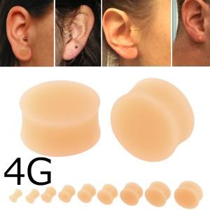 肌色プラグ 4ゲージ 4G ボディピアス メンズ レディース 金属アレルギーなし 軟骨 耳たぶ 透明ピアス 透明ボディピアス シークレット ダ