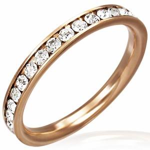 ピンクゴールドエタニティジュエルリング(クリスタル)(TRM041)サイズ/18号/21号 細身 スリム ジルコニアが1周する指輪 サージカルス