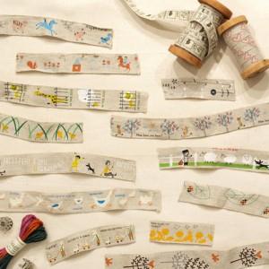Shinzi Katoh シンジカトウ 【リネンテープ LT1801-03】(手芸 裁縫 手作り ハンドメイド テープ ひも リボン ネームタグ 生地 ミシン カ