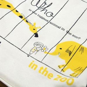 Shinzi Katoh シンジカトウ 【バケットトートバッグ In the zoo】(キャンバス 布 巾着 レディース 子供 キャラクター かわいい ぞう きり