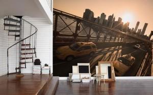 輸入壁紙 貼ってはがせる壁紙 MR PERSWALL【8巾】ミスターパースウォール NewYork Memories ニューヨークメモリーズ East River フリース