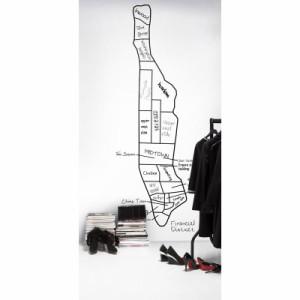 輸入壁紙 貼ってはがせる壁紙 MR PERSWALL【5巾】ミスターパースウォール NewYork Memories ニューヨークメモリーズ City Map フリース壁