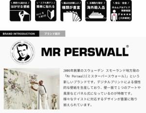 輸入壁紙 貼ってはがせる壁紙 MR PERSWALL【4巾】ミスターパースウォール communication コミュニケーション Organsフリース壁紙 不織布