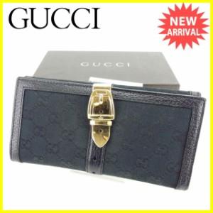 グッチ Gucci 財布 Wホック財布 GGキャンバス レディース 中古 Y4464