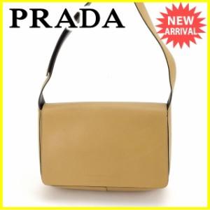 プラダ Prada バッグ ショルダーバッグ ロゴ レディース 中古 L975