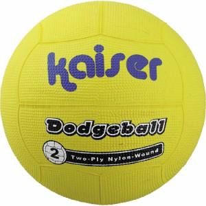 """""""kaiser ナイロンワンド ドッヂボール2号 BOX イエロー/KW-187Y/ドッヂボール、ドッジボール、子供用、ボール"""""""