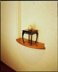 木製花台 すずらん 黒檀調 6号18cm×18cm×22cmの木製花台です/和室/華道/園芸/床の間/内祝/新築祝 等々に・・ フラワースタ