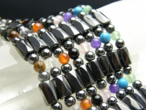 パワーストーン ネックレス/磁気ヘマタイトのぐるぐるネックレス 選べる8種類のパワーストーンのネックレス 訳あり 天然石の厄除け祈願の