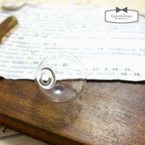 【ガラスドーム】円形25mm (ガラスのみ) 《クリア》 [瓶,ビン,ボトル,グラス,テラリウム,まる,円,ラウンド,丸,バルブ]