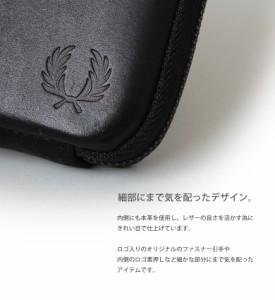 フレッドペリー 財布 FRED PERRY 長財布 日本製 牛革 アラウンドジップ ウォレット レディース メンズ