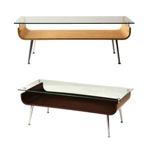 センターテーブル ローテーブル テーブル ガラス シンプル おしゃれ 収納 棚付き