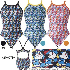 ミズノ(MIZUNO)女性用トレーニング水着 ドラえもん エクサスーツウイメンズミディアムカット N2MA0780