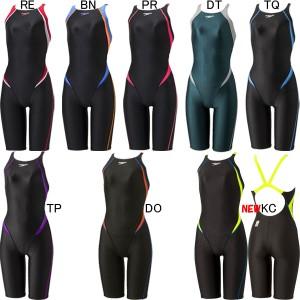 スピード(SPEEDO)女性用 競泳水着 FLEX ΣII レディスオープンバックニースキン SCW11909F