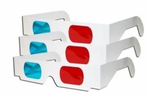 【送料無料】 3D メガネ シンプル 紙製フレーム 100個セット