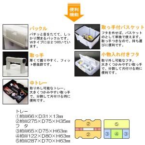 タックルボックス ツールボックス フィッシングボックス【ホタル(HOTARU)W2】パーツケース ルアーケース 収納ボックス 工具入れ 小物入