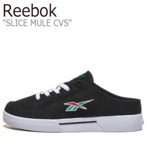 リーボック スニーカー REEBOK メンズ レディース SLICE MULE CVS スライス ミュール キャンバス BLACK ブラック FX3921 シューズ