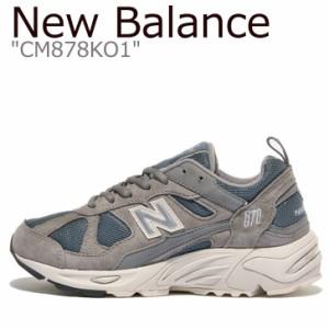 ニューバランス スニーカー New Balance メンズ レディース CM 878 KO1 GRAY グレー CM878KO1 シューズ