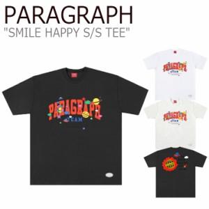 パラグラフ Tシャツ PARAGRAPH メンズ レディース SMILE HAPPY S/S TEE スマイル ハッピー Tシャツ 半袖 PRG42 5583747032 ウェア