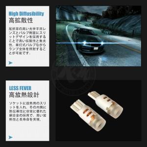 SUZUKI ワゴンR(後) H17.9〜H20.8 MH11・21系 バックランプ T16 2個入り CREE LED 5W仕様 送料無料 6ヶ月保証 K&M