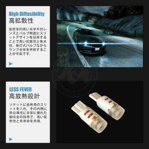 NISSAN フーガ H21.11〜 Y51 ルーム リア T10 2個入り CREE LED 5W仕様 送料無料 6ヶ月保証 K&M