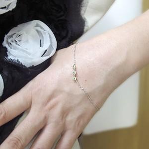 【送料無料】8月誕生石・ブレスレット・K18・トリロジー・王冠・ペリドット・アンクレット