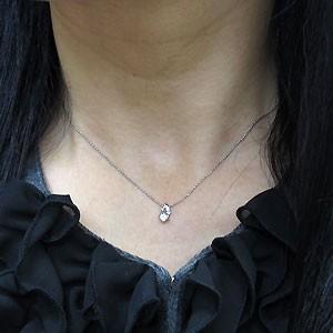 プラチナ・ダイヤモンドネックレス・一粒・ダイアモンド・ペンダント xmas クリスマス