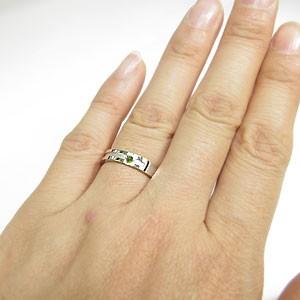 結婚指輪・ペリドット・リング・クロスリング・k10ゴールド・マリッジリング xmas クリスマス