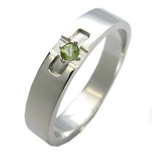 シルバーリング・クロスリング・ペリドット・リング・結婚指輪 xmas クリスマス