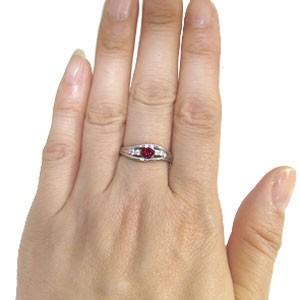 プラチナ・リング・指輪・ルビー・7月誕生石・一粒 xmas クリスマス
