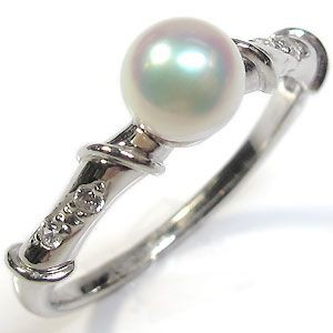 【送料無料】サイズ1号から選べる18金製パールリング(本真珠5mm珠使用)