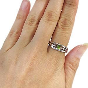 【送料無料】ペリドット リング 18金 一粒 ペリドット 指輪