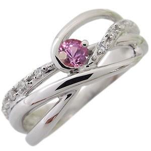 【送料無料】ピンクサファイア・リング・9月誕生石・一粒・10金・指輪