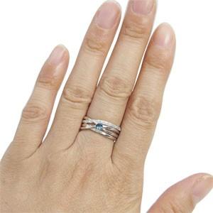 ブルートパーズ・リング・11月誕生石・一粒・10金・指輪 xmas クリスマス